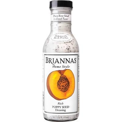 Briannas Home Style Rich Poppy Seed Salad Dressing - 12fl oz