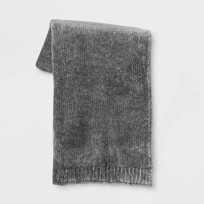 Shine Chenille Throw Blanket Gray - Project 62™