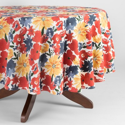 Cream Floral Tablecloth (70 )- Threshold™