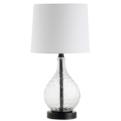 Targari Table Lamp Black/Clear 10 x19  (Includes Energy Efficient Light Bulb)- Safavieh
