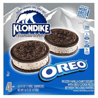 Klondike Oreo Ice Cream Sandwiches - 4pk