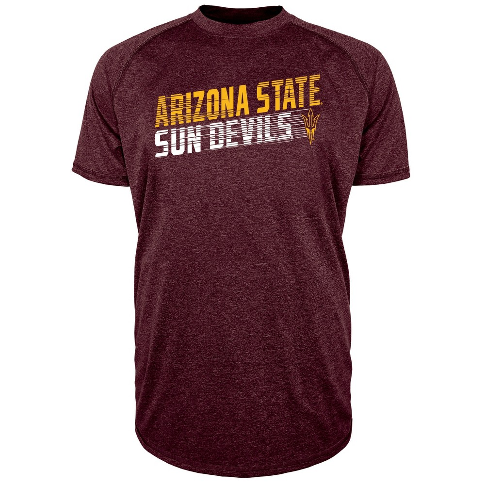 Arizona State Sun Devils Men's Short Sleeve Raglan Performance T-Shirt - L, Multicolored