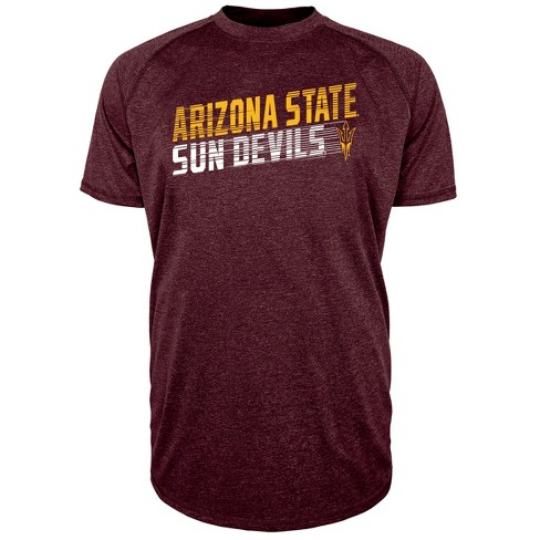 Arizona State Sun Devils Men's Short Sleeve Raglan Performance T-Shirt - image 1 of 1