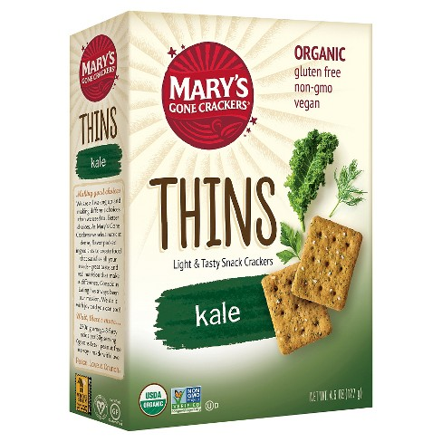 Mary's® Gone Crackers® Thins- Kale Organic Cracker 4.5 oz. - image 1 of 2
