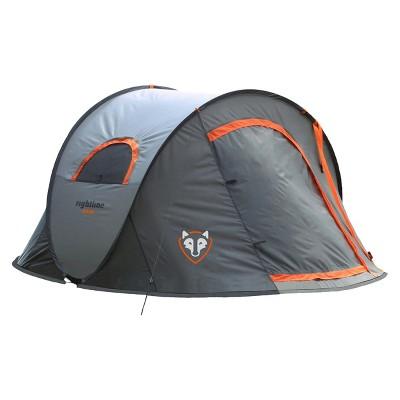 Rightline Gear Pop Up Tent - Gray/ Orange (90  L x 72  W x 42  H)