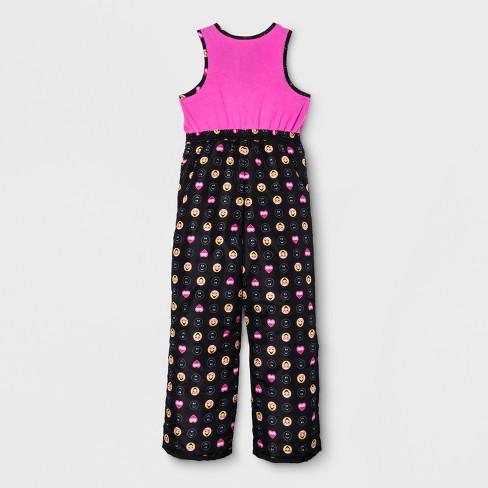0f28b4940bfc Girls  Emoji Snow Bib - Black   Target