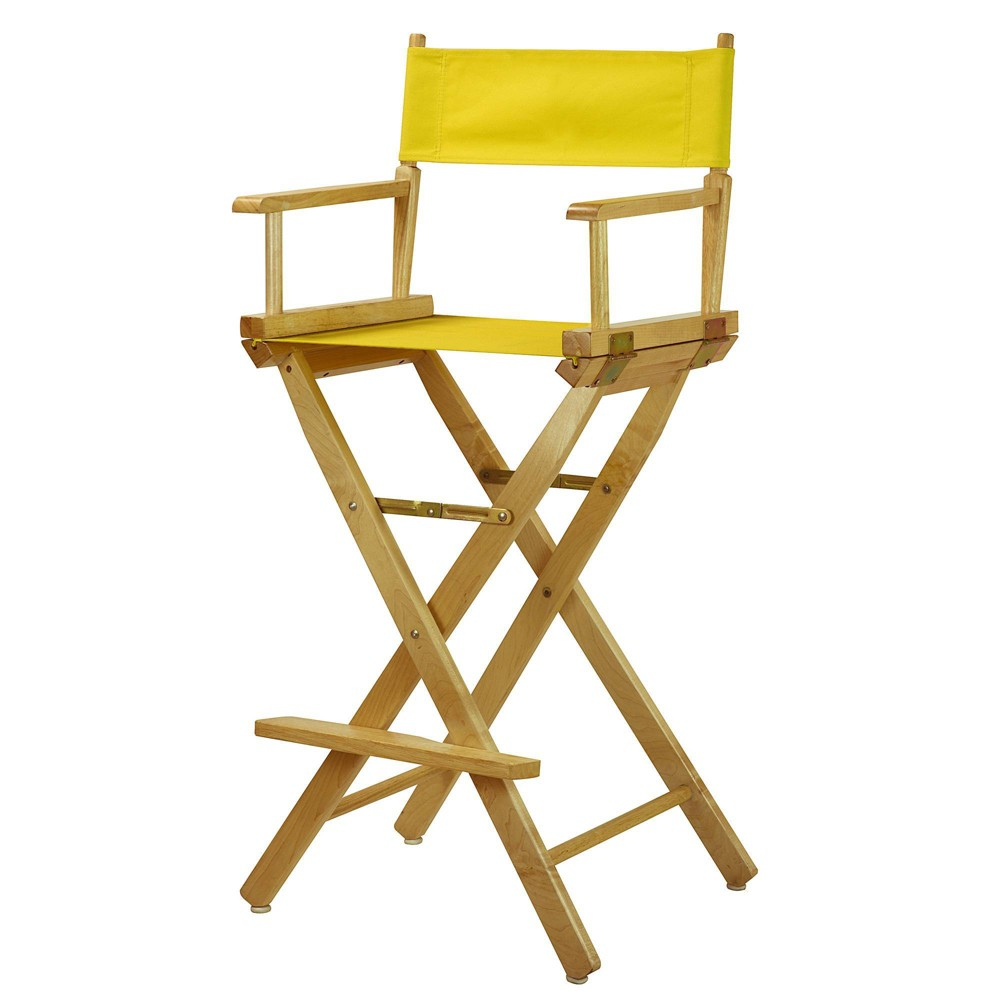Yellow Bar Height Director S Chair Natural