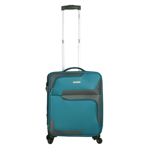 "InUSA 3D-City 20"" Softside Spinner Carry On Suitcase - Turquoise - image 1 of 6"