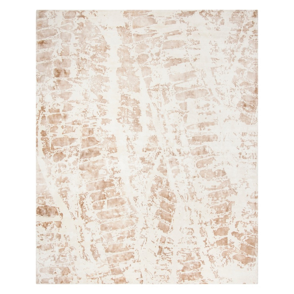 8'X10' Shapes Area Rug Ivory/Brown - Safavieh, White