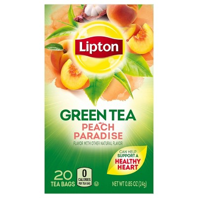 Lipton White Mangosteen Peach Green Tea Superfruit - 20ct
