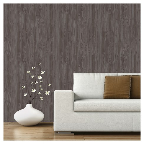 Devine Color Textured Driftwood Peel & Stick Wallpaper - Buck - image 1 of 8