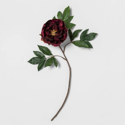 "24"" Artificial Peony Flower Stem Purple - Opalhouse™"