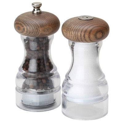 Olde Thompson Salt and Pepper Shaker Set Aspen Gray Ash