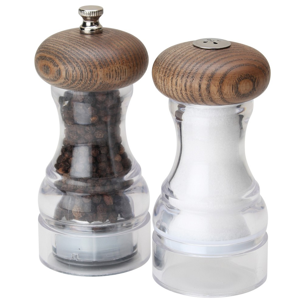 Image of Olde Thompson Salt and Pepper Shaker Set Aspen Gray Ash