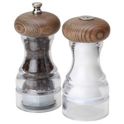 Olde Thompson Salt and Pepper Shaker Set Aspen Gray Ash