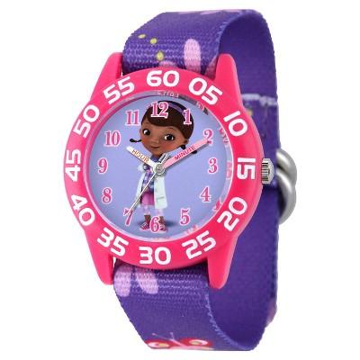 Girls' Disney Doc Mcstuffins Plastic Watch - Purple