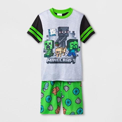 Boys  Minecraft 2pc Pajama Set - Black   Target ba19017e8