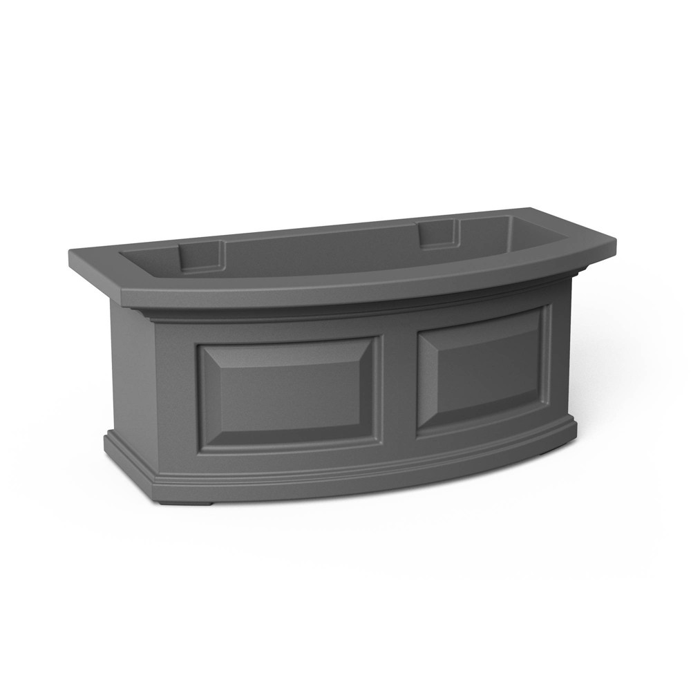 2 39 Nantucket Window Box Graphite Gray Mayne
