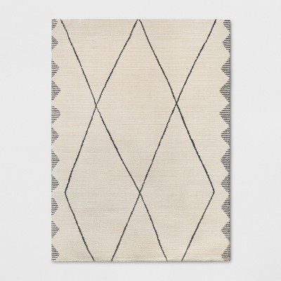 9'2 X12' Woven Diamond Area Rug Cream - Project 62™