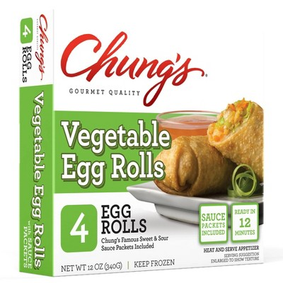 Chung's Frozen Frozen Vegetable Egg Rolls - 12oz/4ct