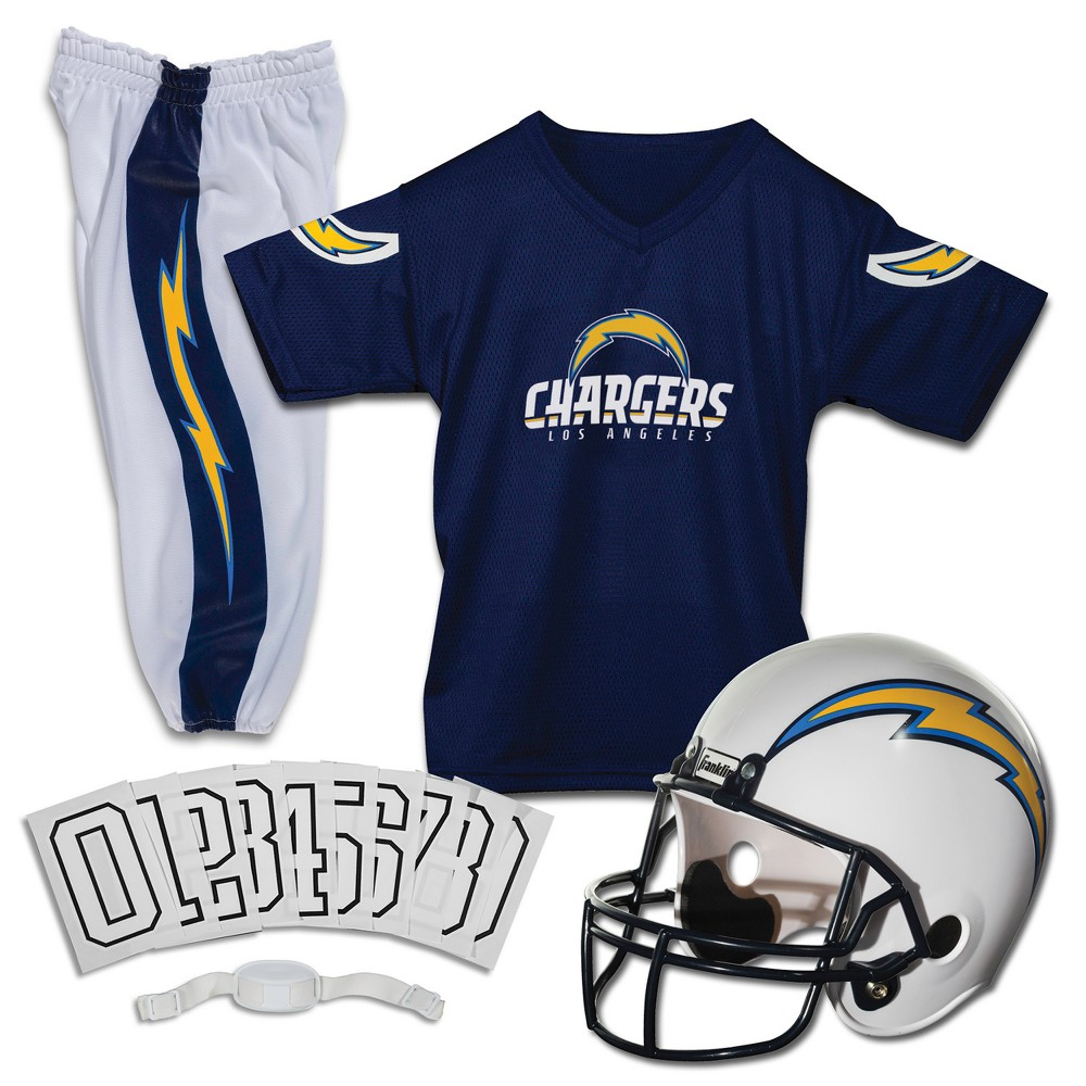 Los Angeles Chargers Franklin Sports Deluxe Uniform Set- Small