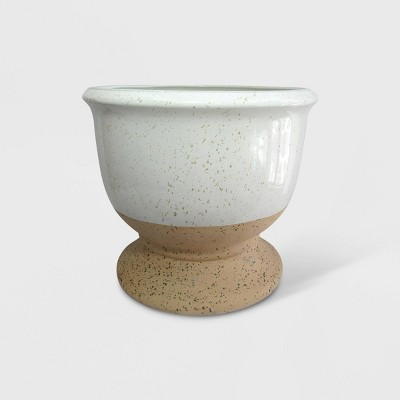14  Dual Reactive Glaze Planter Tan & White - Threshold™