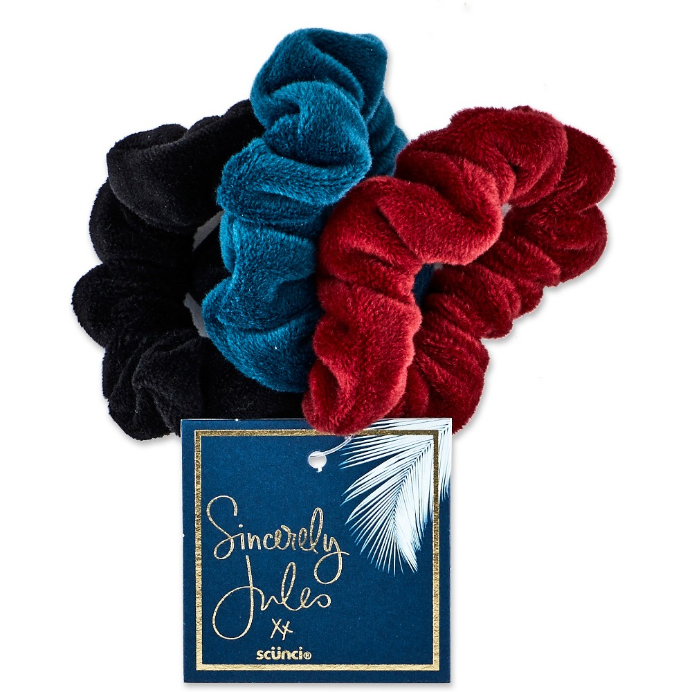 Sincerely Jules by Scünci Mini Twisters (Plush) - 3pk, Multi-Colored