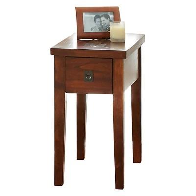 Davenport Chairside End Table Medium Cherry   Steve Silver