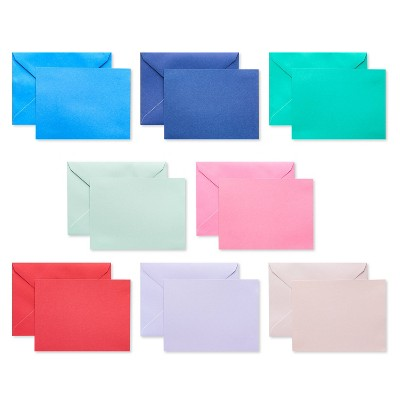 200ct Blank Cards with Envelopes Bright Rainbow - Spritz™