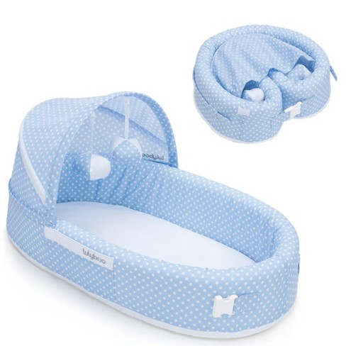 Lulyboo Portable Baby Bassinet To Go Infant Travel Sleeper Blue