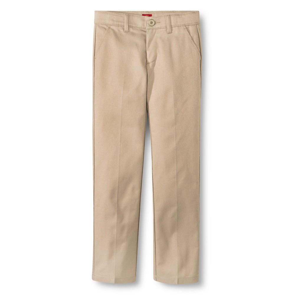 Dickies Little Girls' Slim Fit Flat Front Pants - Desert Sand 5