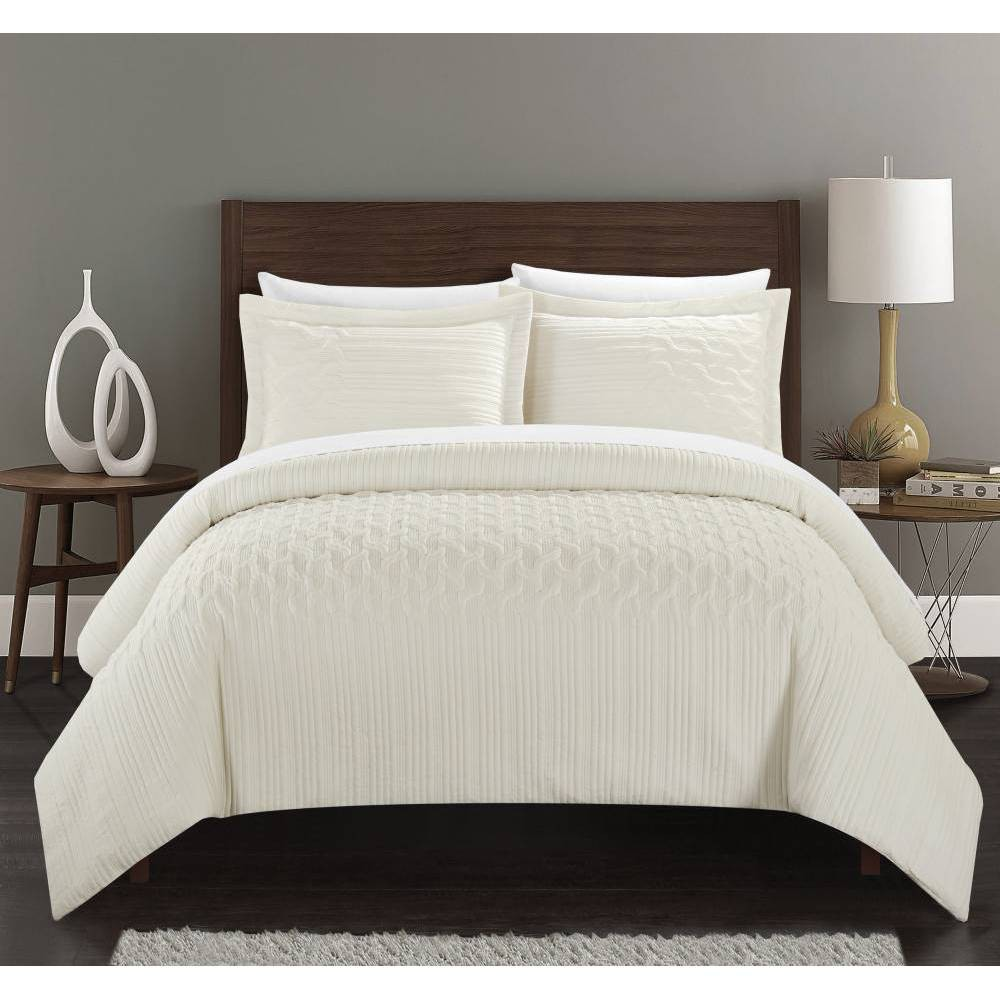 Image of Chic Home King 3pc Jas Comforter Set Beige