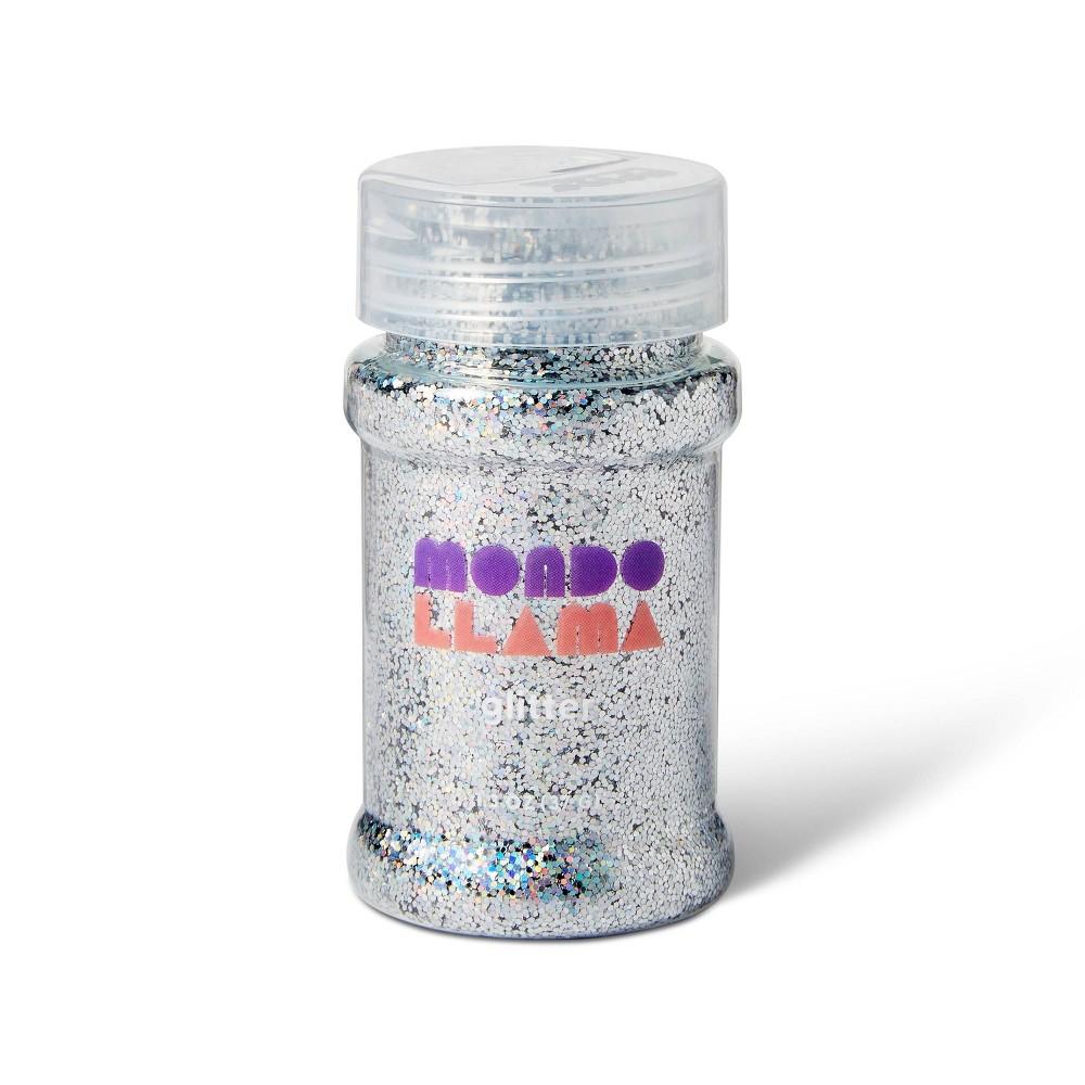 1 3oz Glitter Silver Mondo Llama 8482