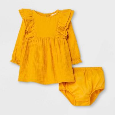 Baby Girls' Gauze Long Sleeve Dress - Cat & Jack™