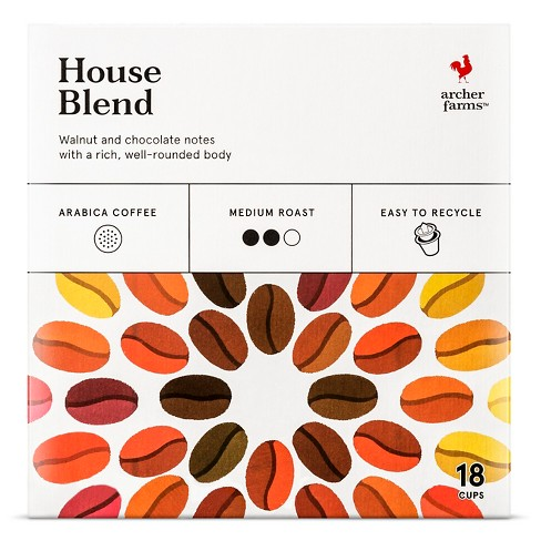 House Blend Medium Roast Coffee - Single Serve Pods - 18ct - Archer Farms™ - image 1 of 4
