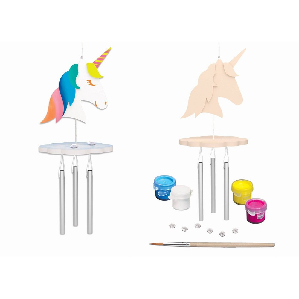 Image of MasterPieces Mini Unicorn WInd Chime Blister Card