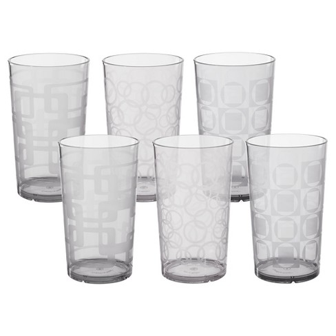 CreativeWare 24oz Acrylic Etched Tumblers - Set of 6 - image 1 of 2