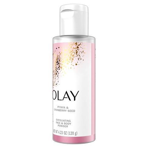 Olay Exfoliating Face Body Powder Pitaya Cranberry Seed 4 23