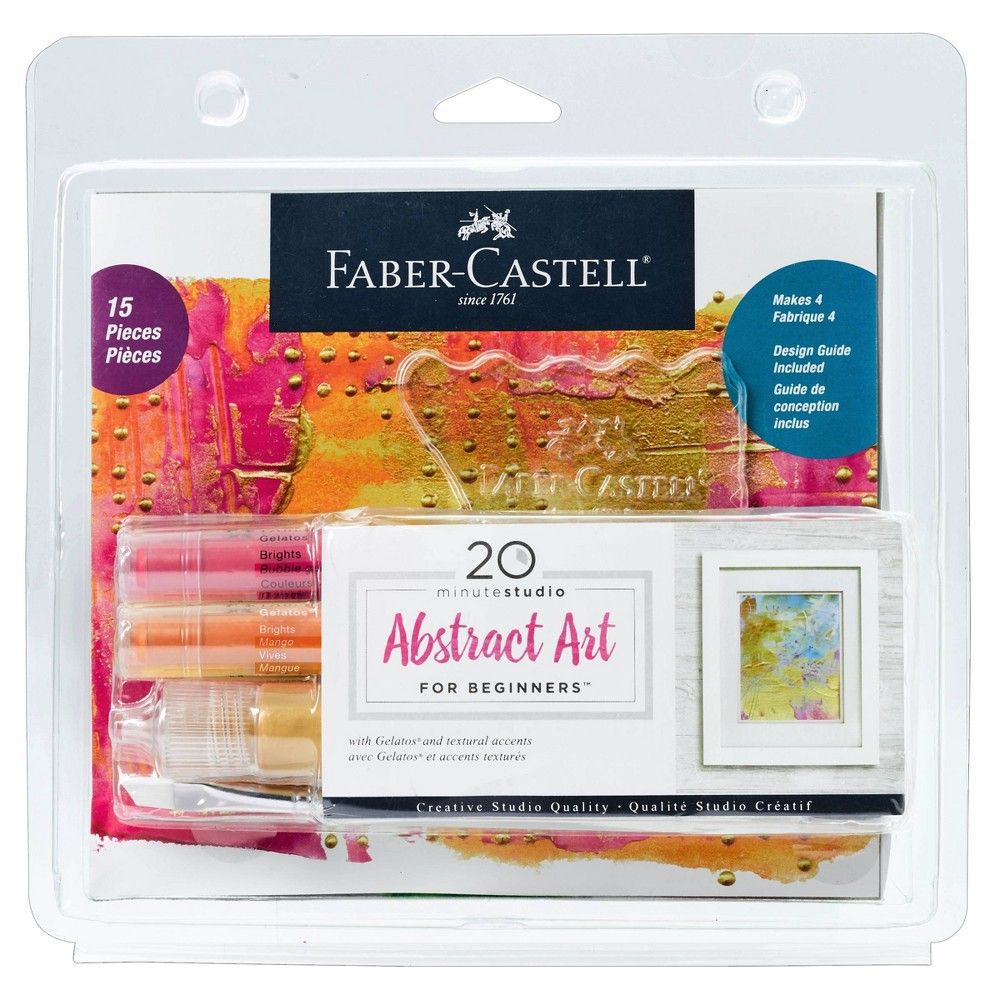 Image of 15pc 20 Minute Studio Abstract Art for Beginners - Faber-Castell