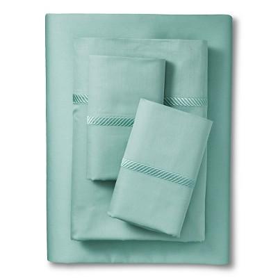 Elite Home Wrinkle Resistant 300TC Embroidary Sheet Set - Spa Blue (King)