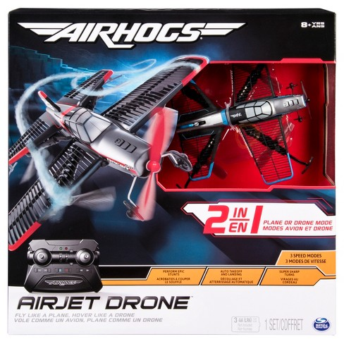 Air Hogs 2 In 1 Airjet Drone Plane With Sharp Turn Capabilities