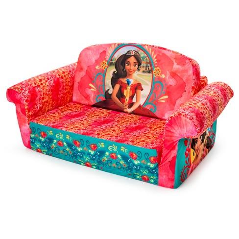 Marshmallow Furniture Children S 2 In 1 Flip Open Foam Sofa Disney Elena Of Avalor Target