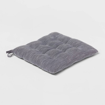 Chambray Stripe Chair Pad Gray - Threshold™