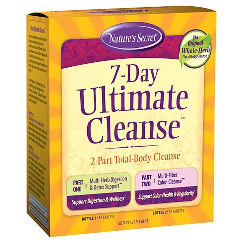 Nature's Secret 7-Day Ultimate Cleanse Dietary Supplement Tablets - 72ct - image 1 of 1