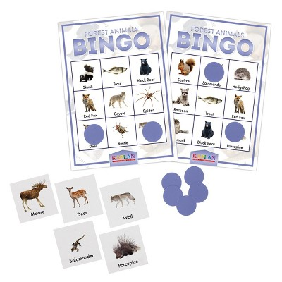 Kaplan Early Learning Company Forest Animals Bingo
