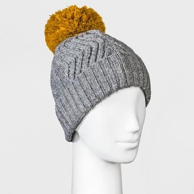 d6ed2707399 Women s Fleece Lined Knit Ribbed Pom Beanie - Universal Thread™   Target