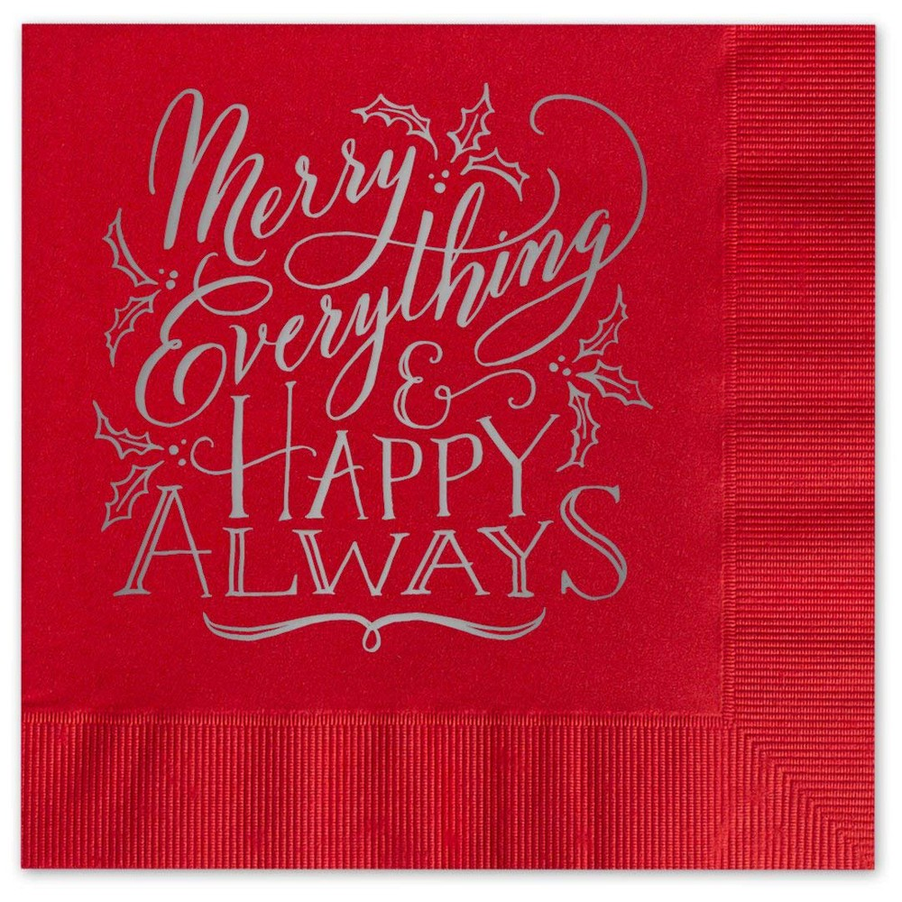 "Image of ""25ct """"Merry Everything"""" Greeting Cards"""
