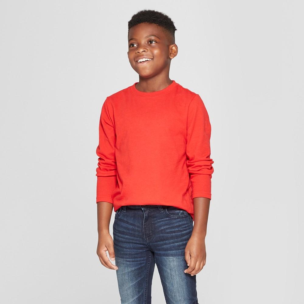 Boys' Long Sleeve T-Shirt - Cat & Jack Red M