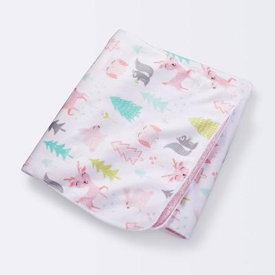 Plush Velboa Baby Blanket Forest Frolic - Cloud Island™ Pink