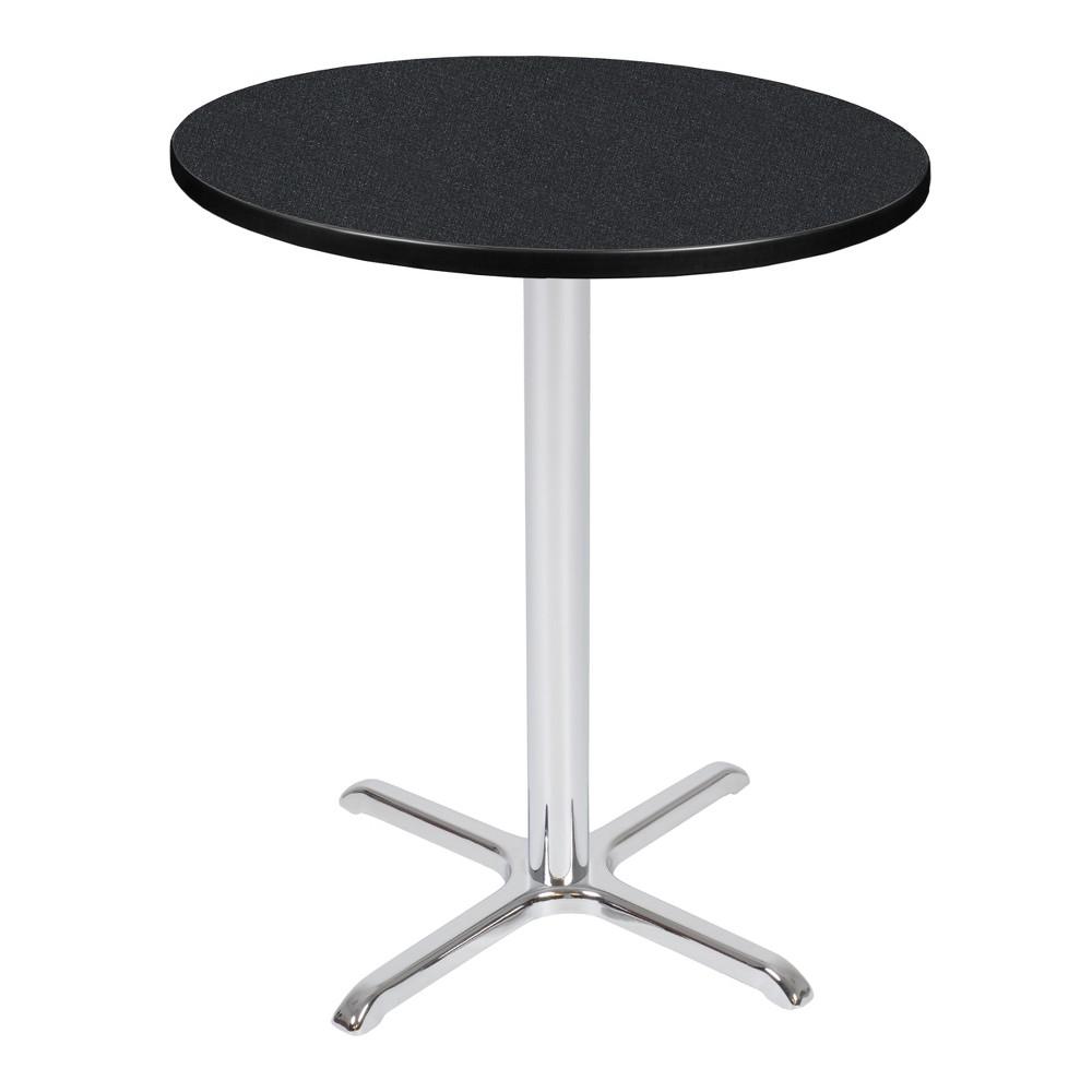 36 Via Cafe High Round X - Base Table Carbon/Chrome (Black/Grey) - Regency